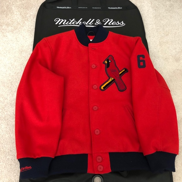 differently 8c38d fc9b6 Mitchell & Ness St. Louis Cardinals Wool Coat Lg